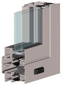 Алюминиевые витражи и двери  Alutech F50/W62